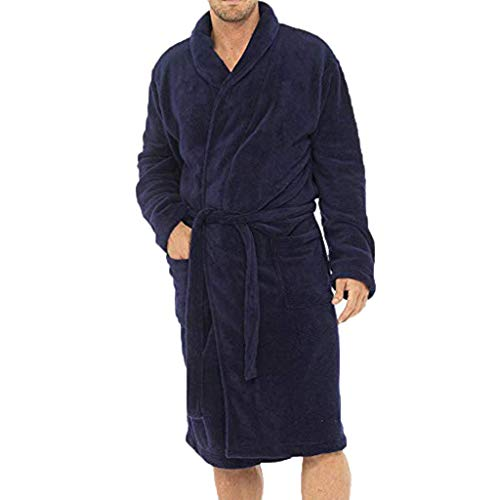 UJUNAOR Pyjama-Oberteil für Herren Solide Bademantel für zu -