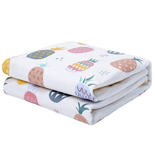 Preisvergleich Produktbild Kinder Babys Wasserdicht Wickelunterlage Wickeltischauflage - Rutschfeste Breathable Bett Schutz Menstruations Pads (Ananas, M (50 x 70cm))