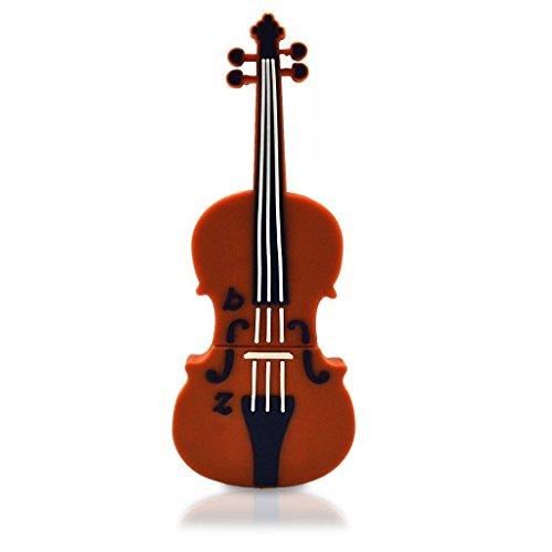 Happy star®, chiavetta usb, a forma di violino, da 16gb, colore marrone, regalo ideale per gli amanti degli strumenti musicali e della musica