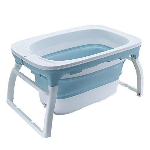 vaschetta bagnetto gonfiabile,Vasca da bagno, vasca neonato pieghevole, con supporto per supporto, nuotare, blu