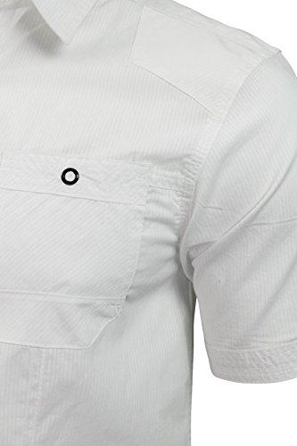 Chemise pour homme 'Sigmar' en tissu façonné et manches courtes de Dissident Blanc Optique