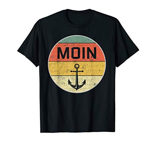 Moin T-Shirt | Norddeutsch Plattdeutsch Nordsee Anker Shirt