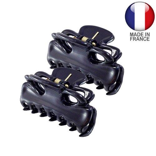 Accessoires cheveux Pinces – 2 pinces pour cheveux français cm 3 couleur noir lot de 2 pièces