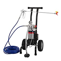 Hopopular 1.9L/Min Airless Paint Sprayer 1.5HP Airless Paint Sprayer 1100W Sprayer with 15 M Hose Spraying Machine (Standard)