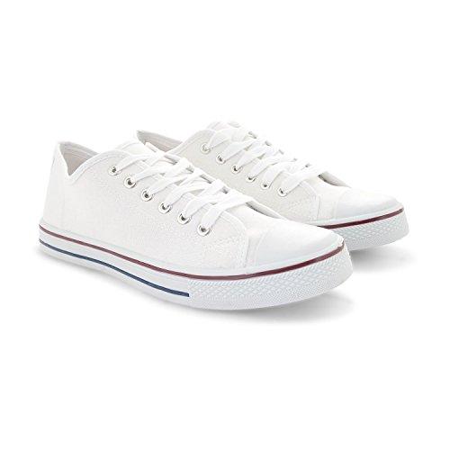 Footwear Sensation , Damen Schnürhalbschuhe Schwarz schwarz Weiß