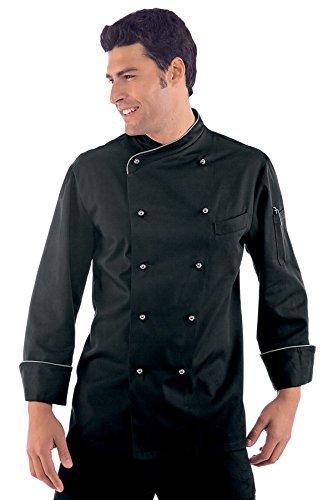 Isacco Giacca Cuoco Lima - Isacco Nero, Nero, M, 65% Poliestere 35% Cotone, 195 gr/m²
