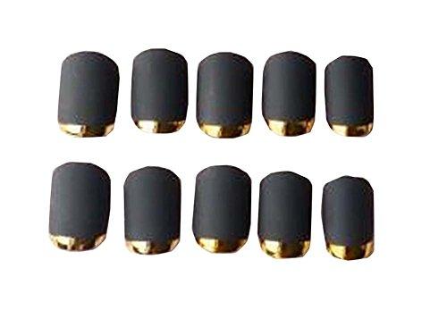 Black Women poli Dull / Lady faux ongles 24 PCS sans colle