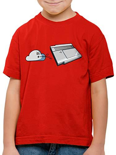 style3 Retro Blow T-Shirt für Kinder NES Cartridge 8-Bit, Farbe:Rot, Größe:152