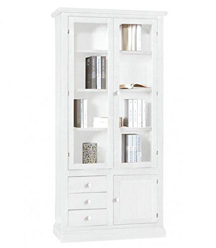 Spazio casa libreria classica in legno arte povera - bianco opaco