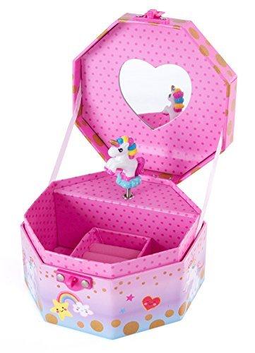 Hot sich Musical Mädchen Jewelry Box-Rainbow Einhorn Musik Jewel Aufbewahrungsbox-spielt Beethovens für Elise - Musikalische Schmuck-box