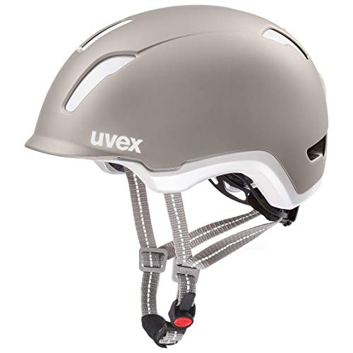 Uvex Unisex-Erwachsene City 9 Fahrradhelm mit LED Licht, grau, 58-61 cm - Led 9 Fahrrad-licht