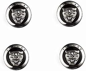4neue * 59mm Jaguar schwarz Leichtmetallrad Badges