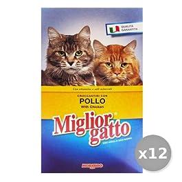Set 12 MIGLIOR GATTO 400 gr Secco Pollo Cibo Per gatti