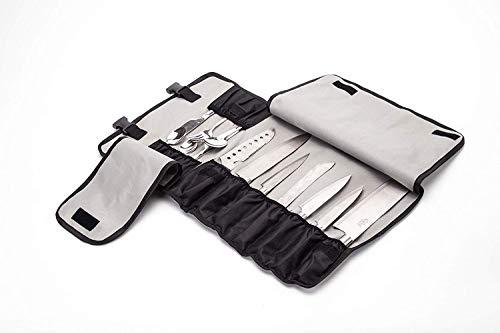 Tasche für Küchenmesser, mit 13 Fächern, für 7 Messer, 6 Fleischwolf und Utensilientaschen Robuste Messertasche HGJ60-A mit Griff, Schultergurt