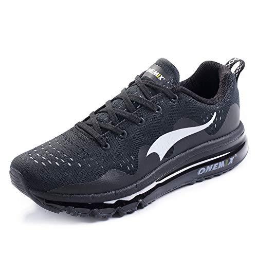 ONEMIX Scarpe da Ginnastica Sportive Uomo Antinfortunistica Corsa Running Sneakers Basse Interior Casual all'Aperto 1223 Black 43