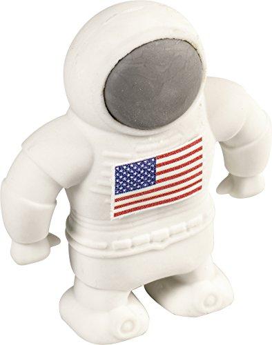 Brunnen 1027377 Radiergummi / Radierer Astronaut Fun Collection (4 x 5 cm) weiß