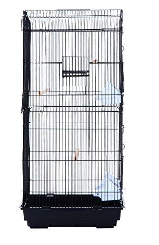 Pet Zone TALL XL BUDGIE COCKATIEL FINCH BIRD CAGE BLACK/WHITE NBH3081 (BLACK) 4