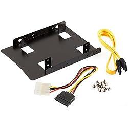 Poppstar Einbau-Kit für interne 2,5 Zoll SSD/HDD, zum Einbau auf 3,5 Zoll Format
