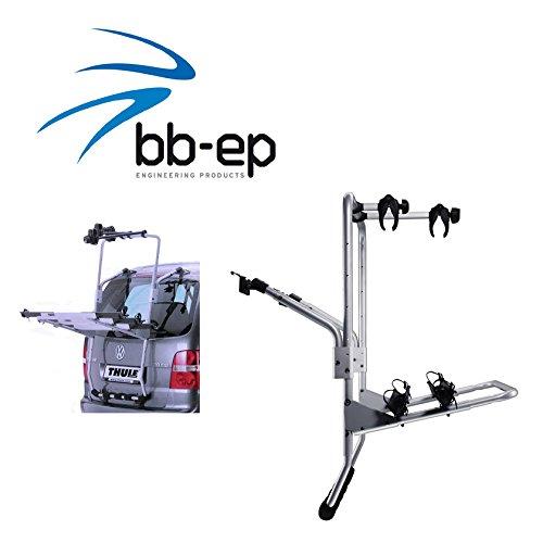 Exklusiver Thule Fahrradträger zum Transport von 3 Rädern auf der Heckklappe für MERCEDES BENZ V-Klasse (W638) - komplett abschließbar kein weiteres Zubehör nötig