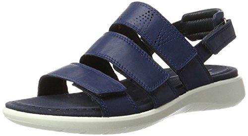 Ecco Damen Soft 5 Offene Sandalen mit Keilabsatz Blau (1048TRUE NAVY)