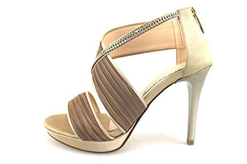 ALBANO 35 EU sandali donna beige seta swarovski AG200