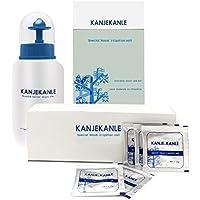 Lavadora nasal 240ml + sal de nariz de lavado 30PCS casa niños adultos rinitis médica dispositivo de irrigación nasal spray sinusitis alérgica lavado de yoga pote