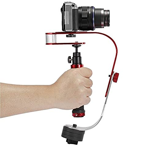 VidPro Handheld Video Camera Steadicam for GOPRO, DSLR, Camcorder, Nikon, Canon, Mobile Phone or any camera up to 2.1 lbs - Create Steady Glide Cam Footage with Gimbal Quality - Camera Accessories.