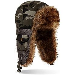 Black Snake Unisex Fliegermütze Camouflage Pilotenmütze Camouflage OneSize