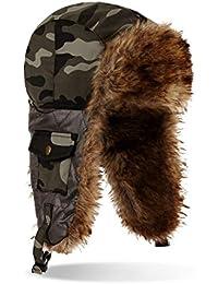 noorks–Gorro de invierno gorro Russian Style, camuflaje, talla única