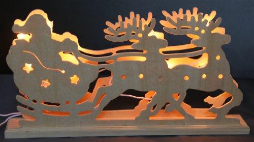 Decorazioni di Natale Natale arco candela illumina fatti a mano in legno