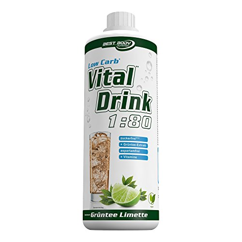 Best Body Nutrition - Low Carb Vital Drink, Grüntee-Limette, 1000 ml Flasche (Care Special Tee)