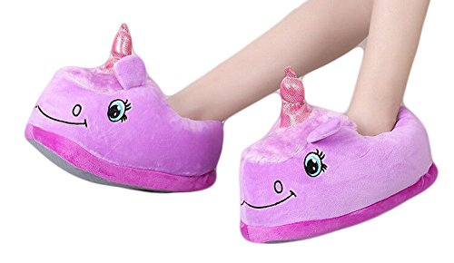 Auspicious beginning Unicorn Plüsch Hausschuhe warm Haushalt Loafers für Männer und (Flamingo Zombie)