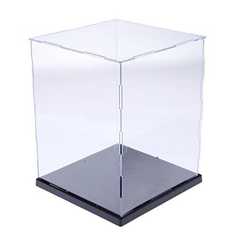 Homyl Klare Schaukasten aus Acryl/Ausstellungshaube Box mit LED-Licht/Acrylhaube/Vitrine Box/Abdeckhaube/Staubschutz Showcase (Mit Figur-vitrine Licht)