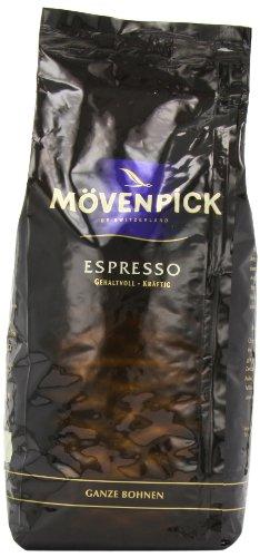 Mövenpick Kaffee Espresso ganze Bohnen, 1000g, 2er Pack (2 x 1 kg)