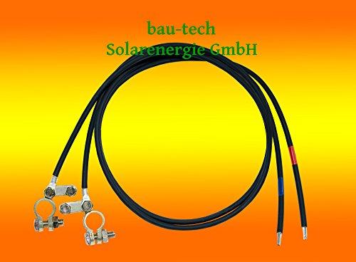2 Meter Batterie Anschlusskabel 4mm² (Laderegler auf Batterie) von bau-tech Solarenergie GmbH