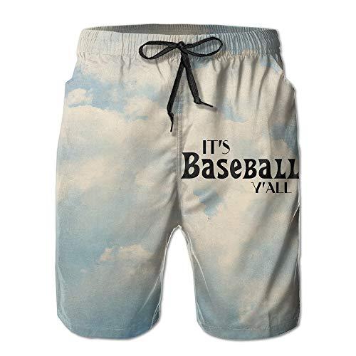 Desing shop Men's It's Baseball Y'all Swim Trunks Beach Board Shorts Small (Boys Golf Oakley)