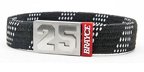BRAYCE Eishockey Schnürsenkel-Armband schwarz mit Deiner Nummer 00-99 (Trikotnummer, Spielernummer, Glückszahl): Der Schmuck für DEL, DEL2 & NHL (Fanartikel)