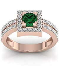 Perrian 18KT Gold, Diamond And Emerald Ring For Women