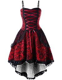 Modaworld Sexy Vestiti da Donna Vintage Senza Maniche Abito Carnevale  Cosplay Costume Partito Vestito da Sera 7e9abf13c2e