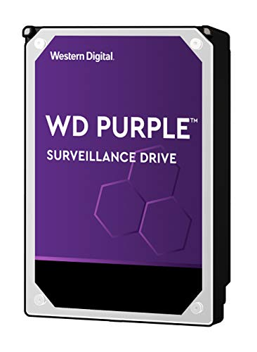 WD Purple Intellipower Hard Disk Drive per Videosorveglianza da 2 TB, 3.5', SATA 6 Gb/s, Cache 64 GB, 5400 RPM