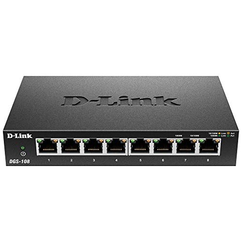 D-Link DGS-108 - Switch red 8 puertos Gigabit