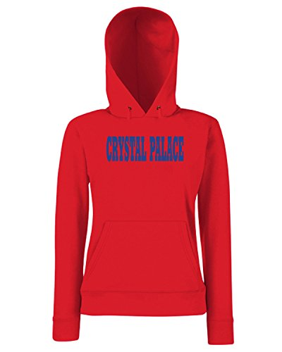 T-Shirtshock - Sweats a capuche Femme WC0696 CRYSTAL PALACE Rouge
