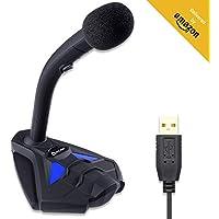 KLIM™ Voice V2 + Micrófono USB de Escritorio + Nuevo 2020 + Óptima Calidad de Sonido + Ideal para grabación y reconocimiento de Voz, Streaming, Youtube, Podcast + Compatible Windows Mac PS4 + Azul