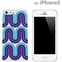 70-Custodia per iPhone 5, motivo: onda, colore: