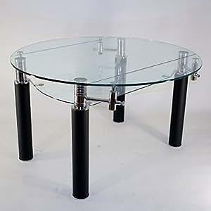 runder glastisch ausziehbar durchmesser 130 cm nero k che haushalt. Black Bedroom Furniture Sets. Home Design Ideas