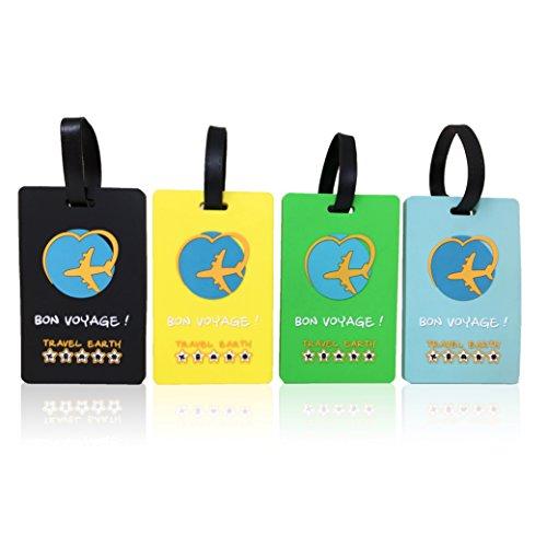 Etiqueta de equipaje ✮ Travel Earth ✮ Lote de 3 etiquetas de equip