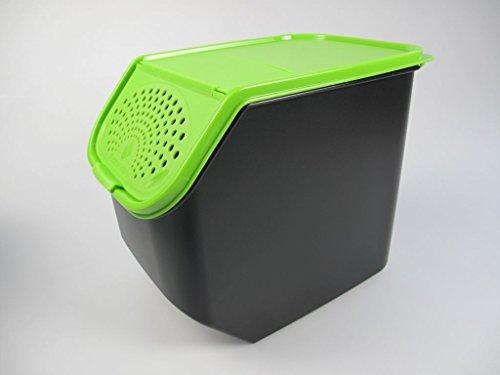 Tupperware© - Contenitore per patate Verde/Nero