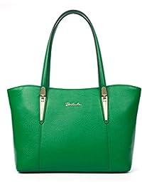 BOSTANTEN Bolso Verano hombro de piel Cuero Genuino para mujer bolso de compra múltiple color