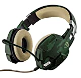 Trust Gaming GXT 322C - Auriculares Gaming Stereo para PC, Color Verde Camuflaje