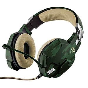 Trust Gaming GXT 322C Carus Gaming Headset Kopfhörer (mit flexiblem Mikrofon für PS4, Xbox One und PC/Laptop) grün camouflage
